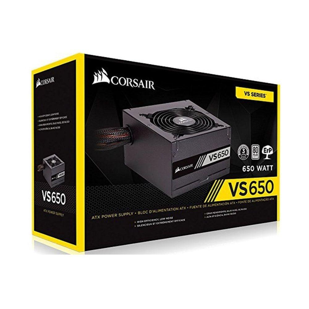 Fonte Corsair VS650 80W Plus White