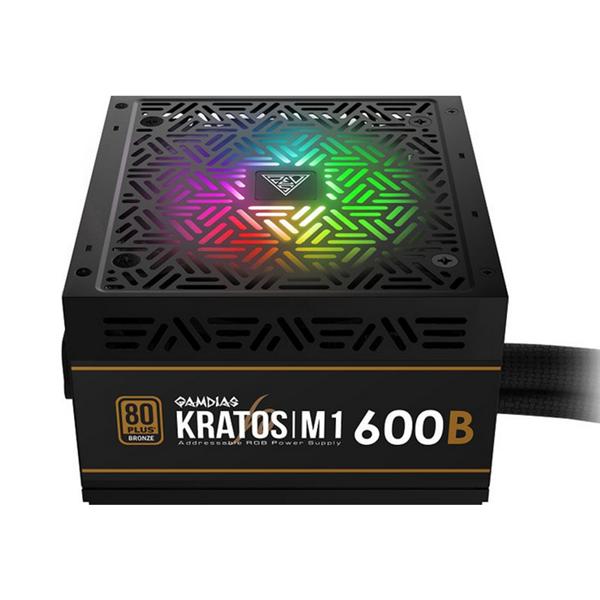 Fonte Gamdias Kratos M1 600W 80 Plus