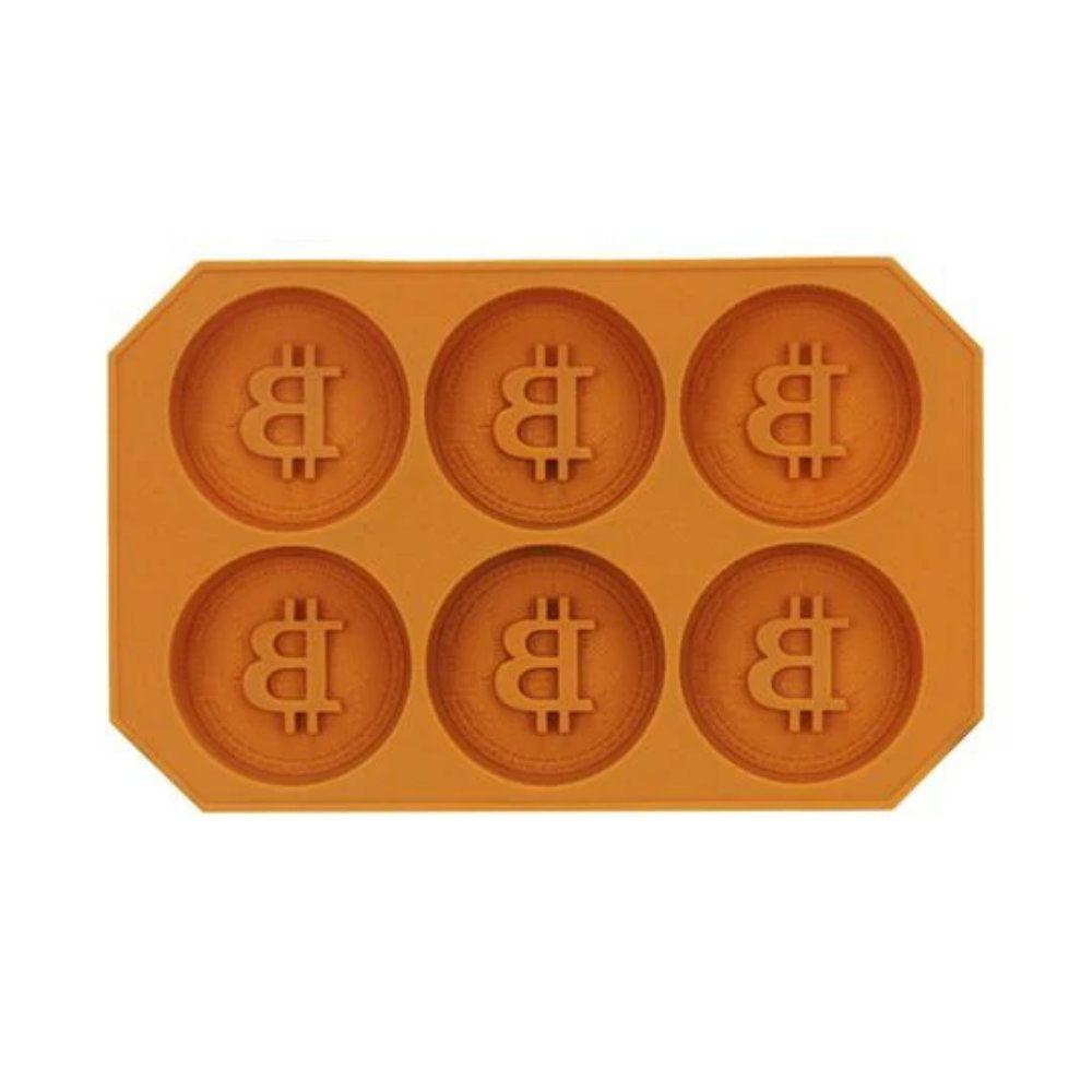 Forma de Gelo Bitcoins - Silicone - Laranja