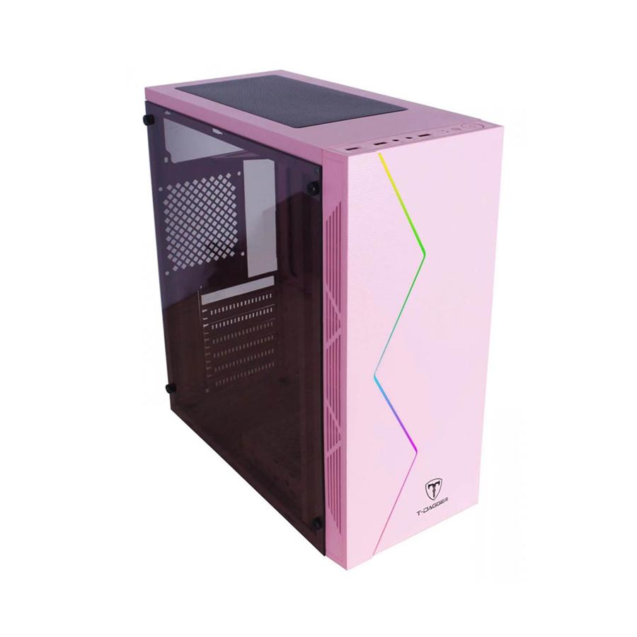 Gabinete Gamer Tdagger TGC-P03P Rosa