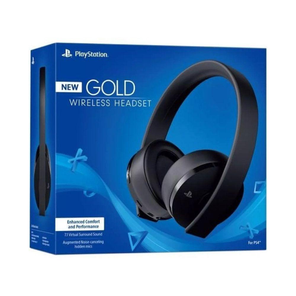 Gold Wireless Stereo Headset 7.1 (Sony) - PS3 / PS4 / PS Vita / PC / Mac Modelo 2018