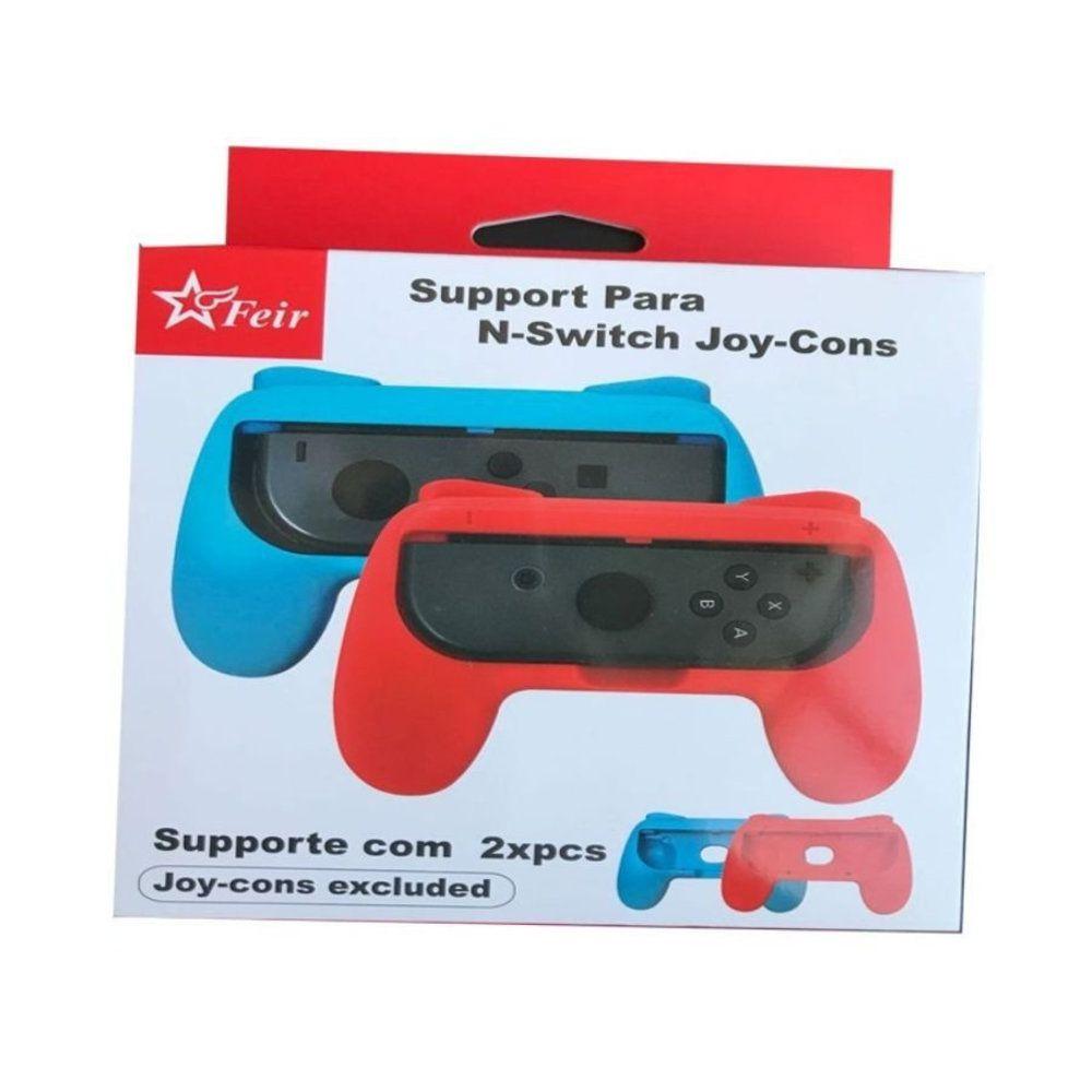 Grips E Capa Para Joy Con Nintendo Switch - Preto