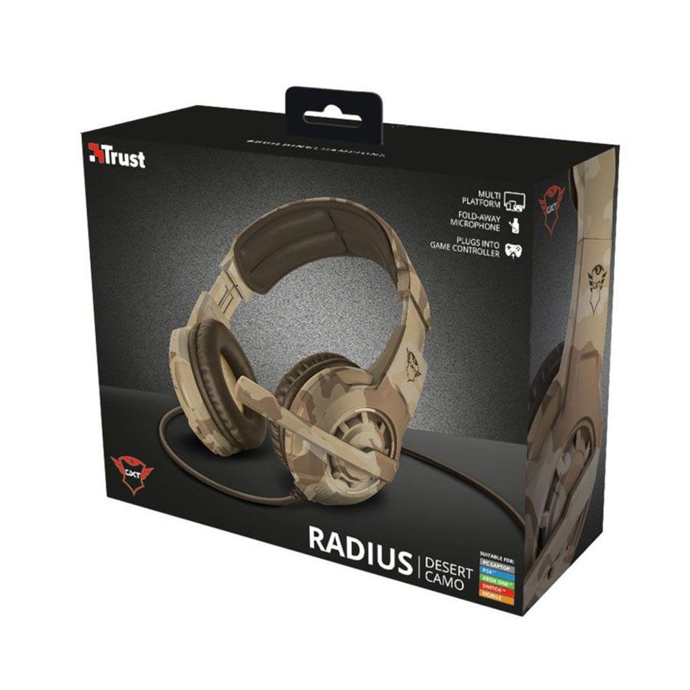 Headset Gamer Trust GXT 310D Radius Desert Cammo Com Fio