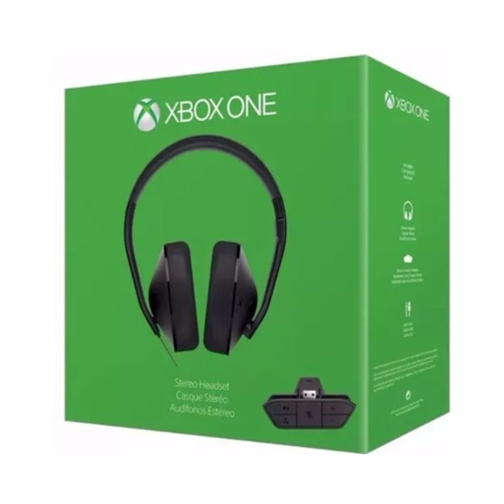 Headset Xbox One Microsoft com Adaptador - Preto