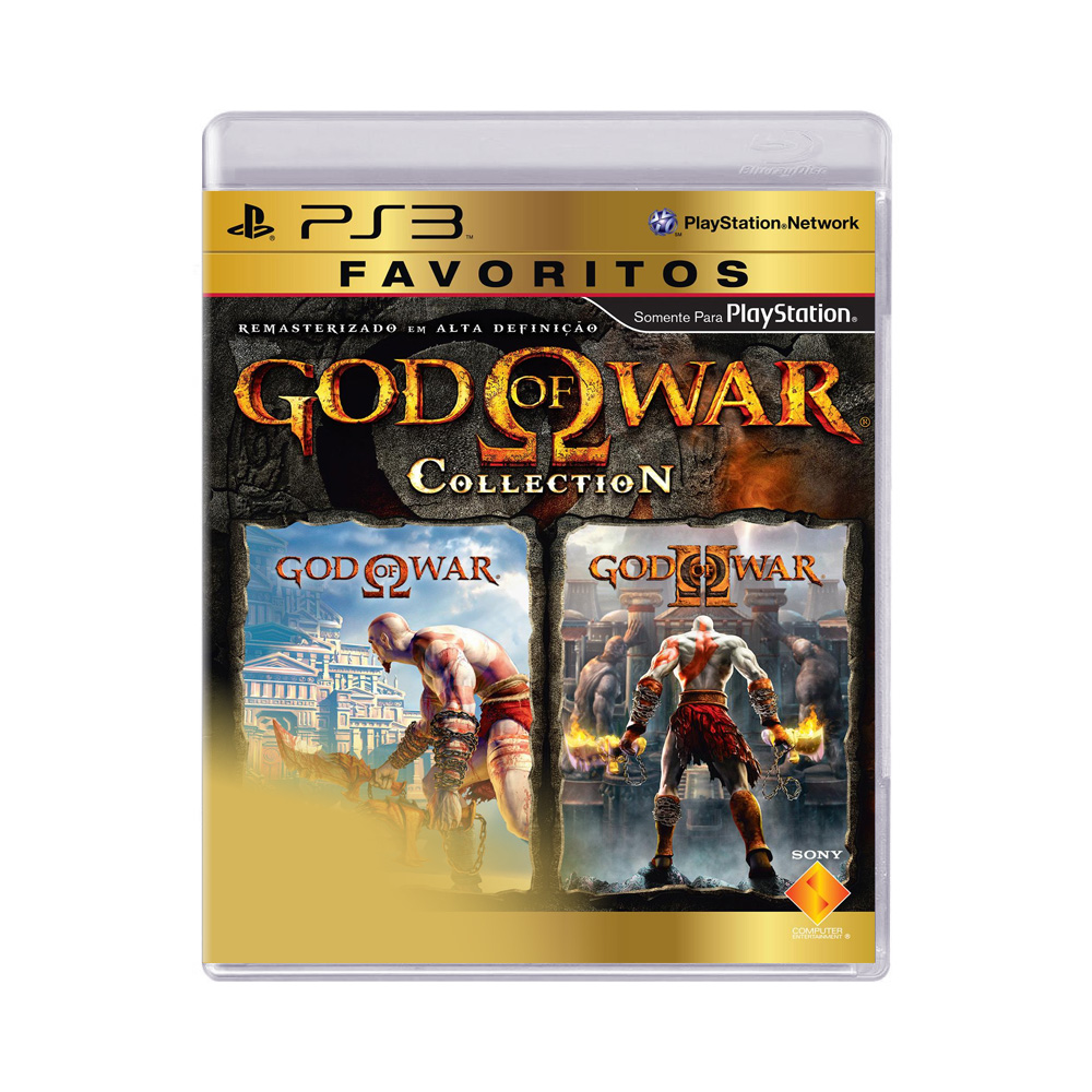 Jogo God of war Collection Favoritos - PS3
