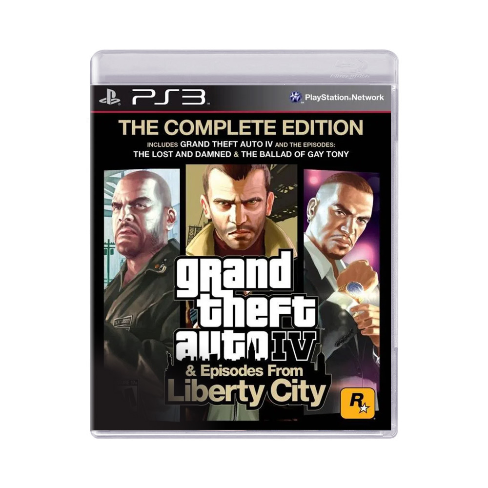 Jogo Grand Theft Auto IV & Episodes From Liberty City GTA The Complete Edition - PS3