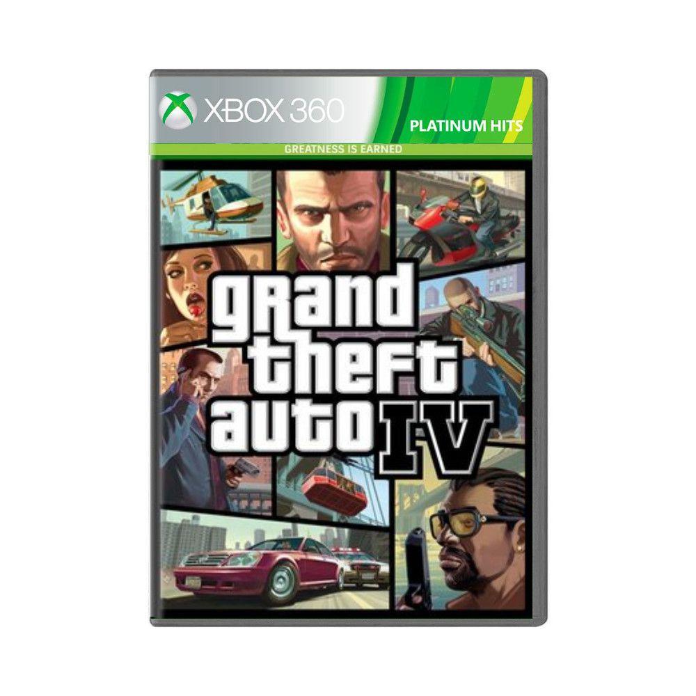 Jogo Grand Theft Auto IV GTA Platinium Hits - Xbox 360