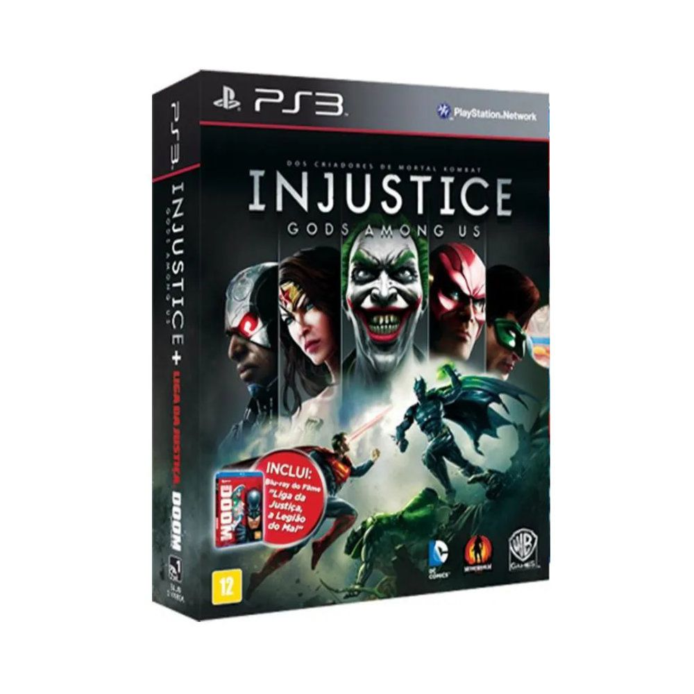 Jogo BOX Injustice Gods Amoung Us - PS3