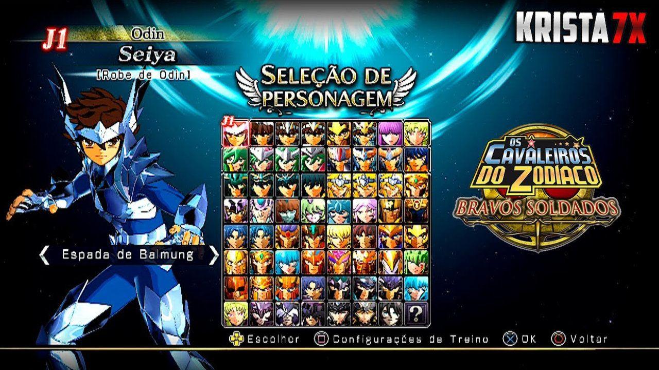 Jogo Os Cavaleiros do Zodíaco Bravos Soldados - PS3