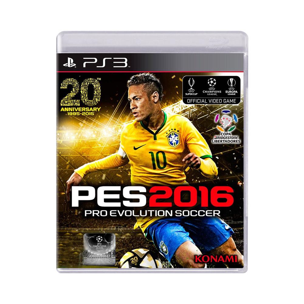 Jogo Pro Evolution Soccer PES 2016 - PS3
