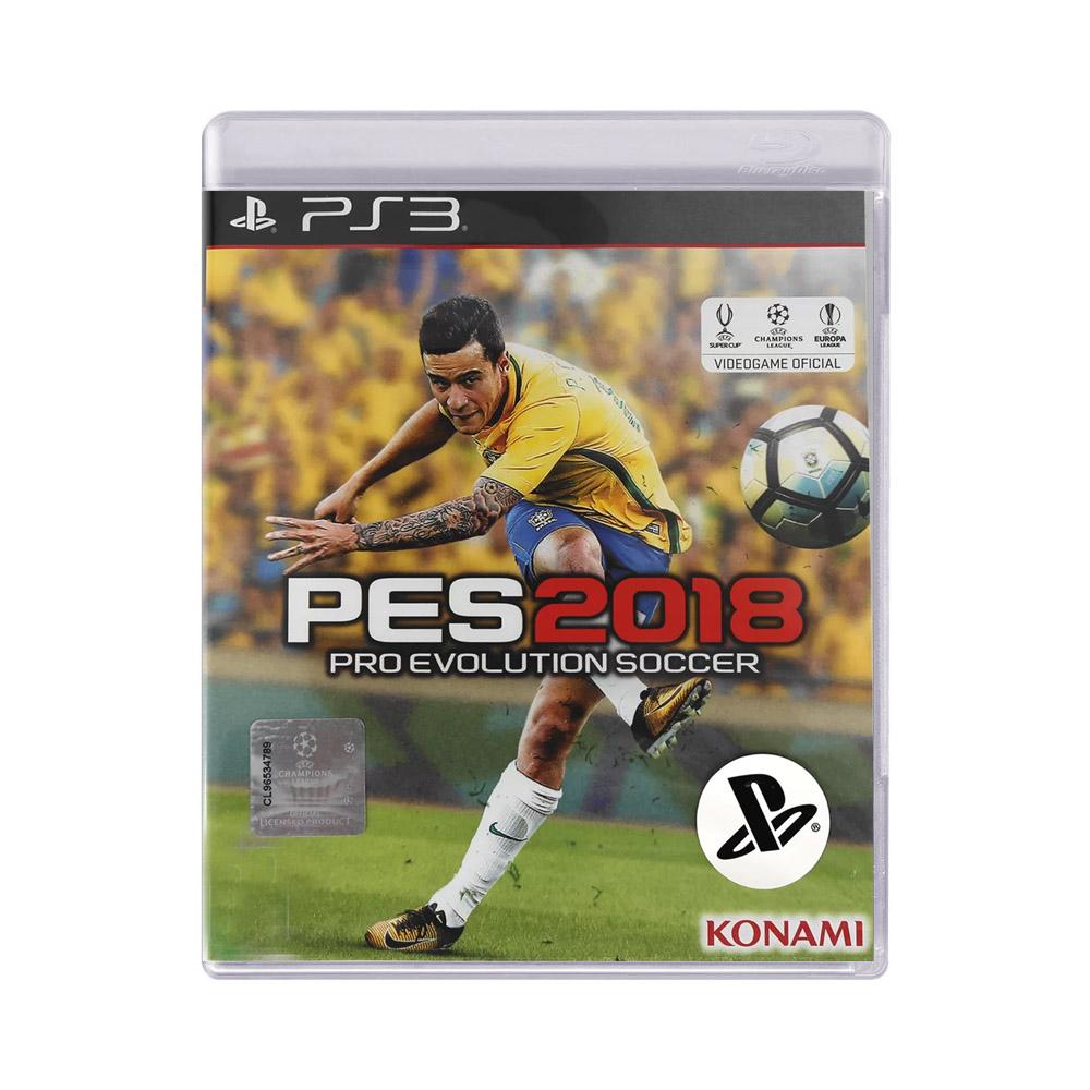 Jogo Pro Evolution Soccer PES 2018 - PS3