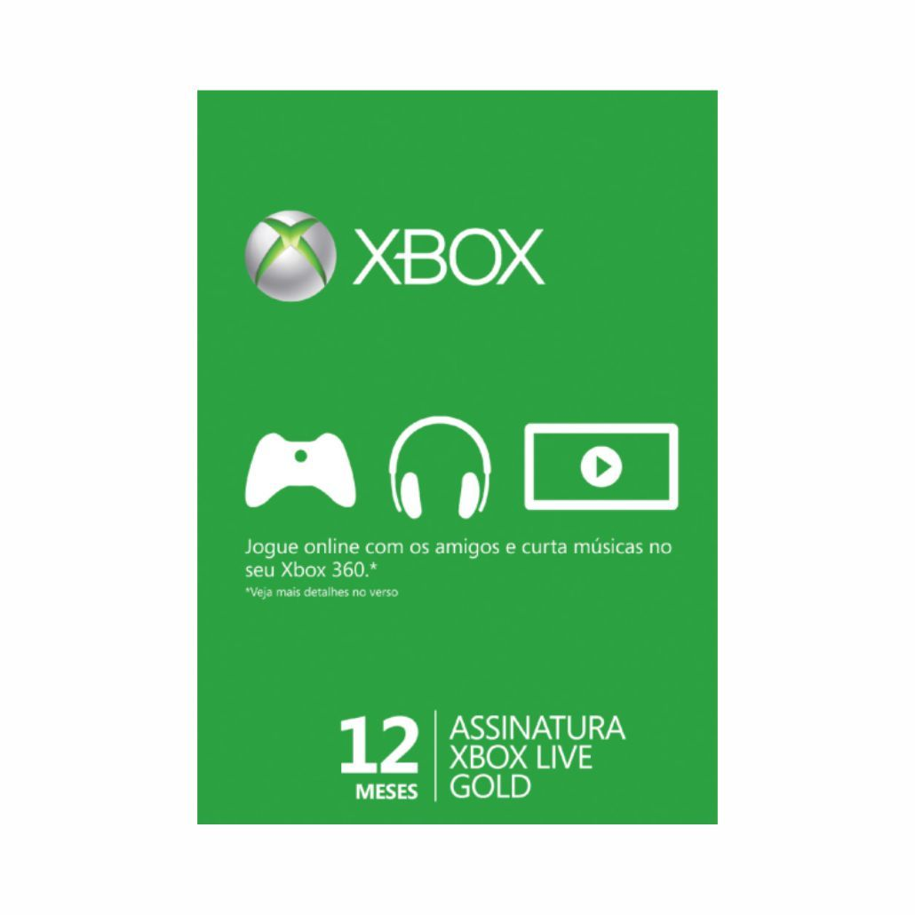 Live Card Microsoft Gold 12 Meses