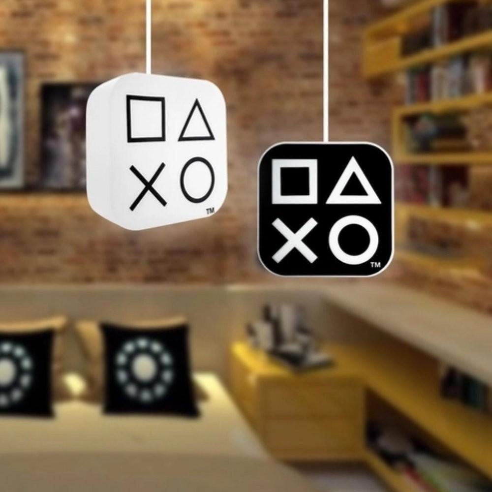 Luminária Pendante Botões PlayStation - Sony - Preta 32X30