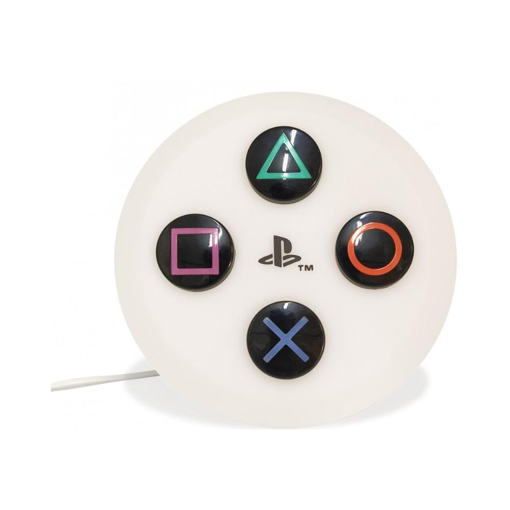 Luminária Redonda Pendante Botões PlayStation - Sony - Branca 32X30