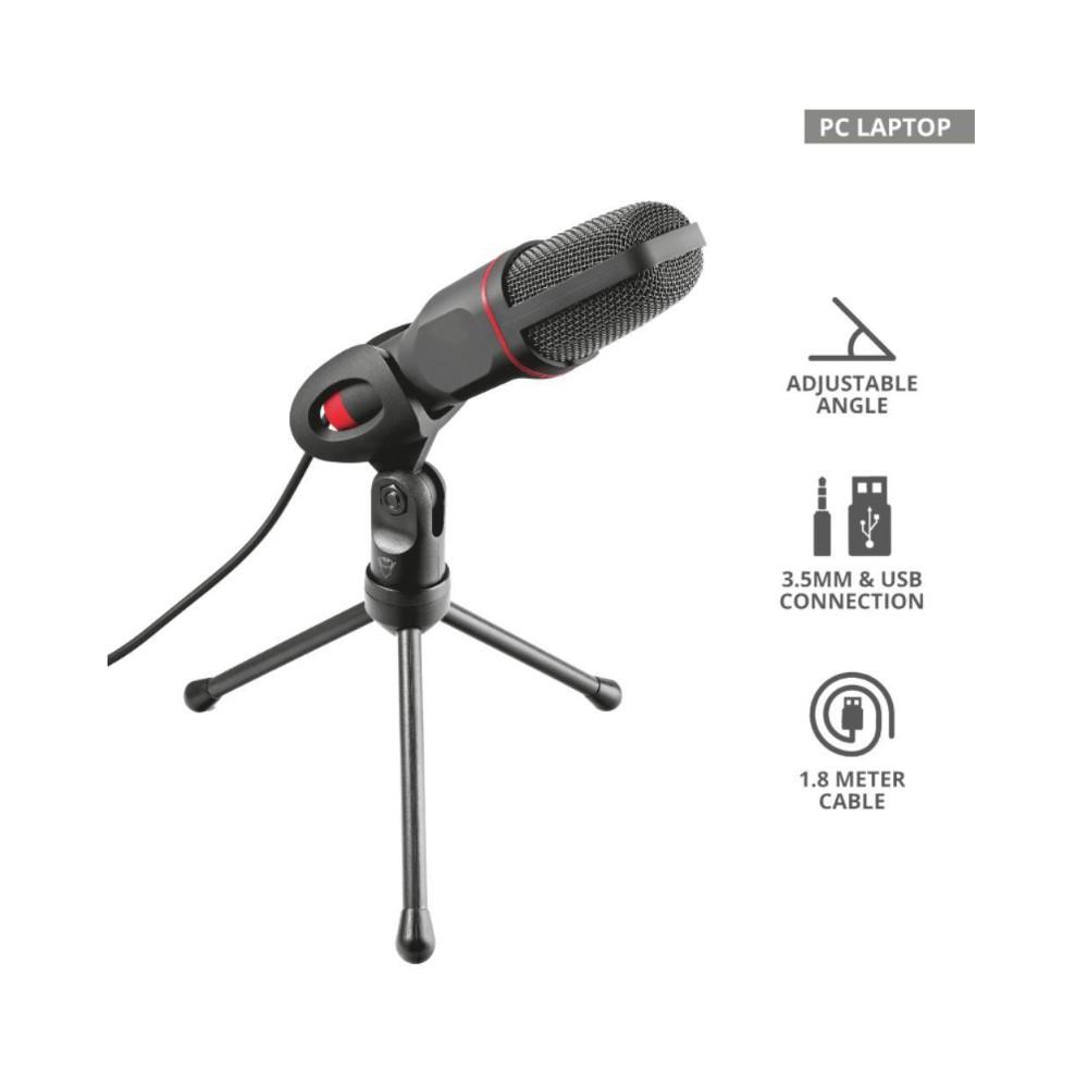 Microfone Trust GXT 212 Mico P2/USB Omnidirecional