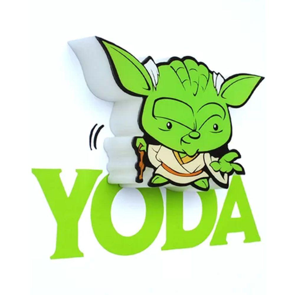 Mini Luminária 3D Light Fx Yoda - Star Wars