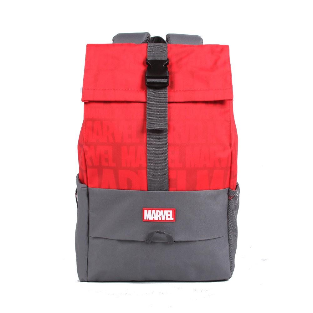 Mochila Marvel - Vermelha e Cinza - Poliéster