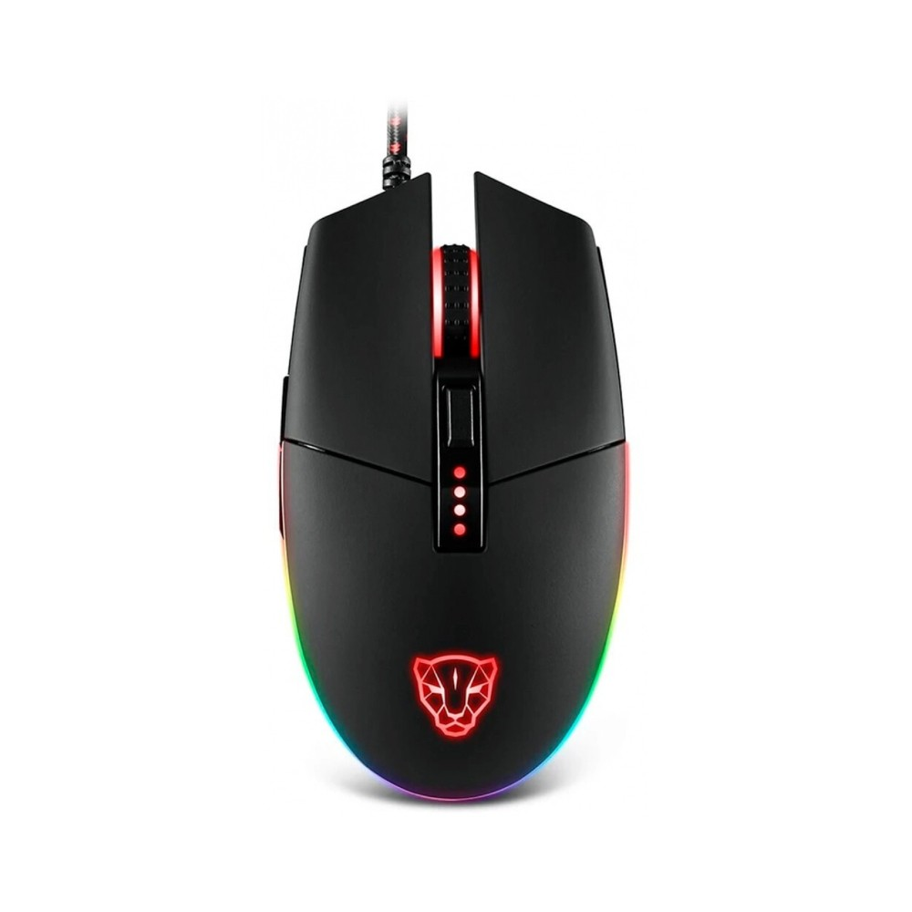Mouse Gamer Motospeed V50, RGB, 4000 DPI, Branco