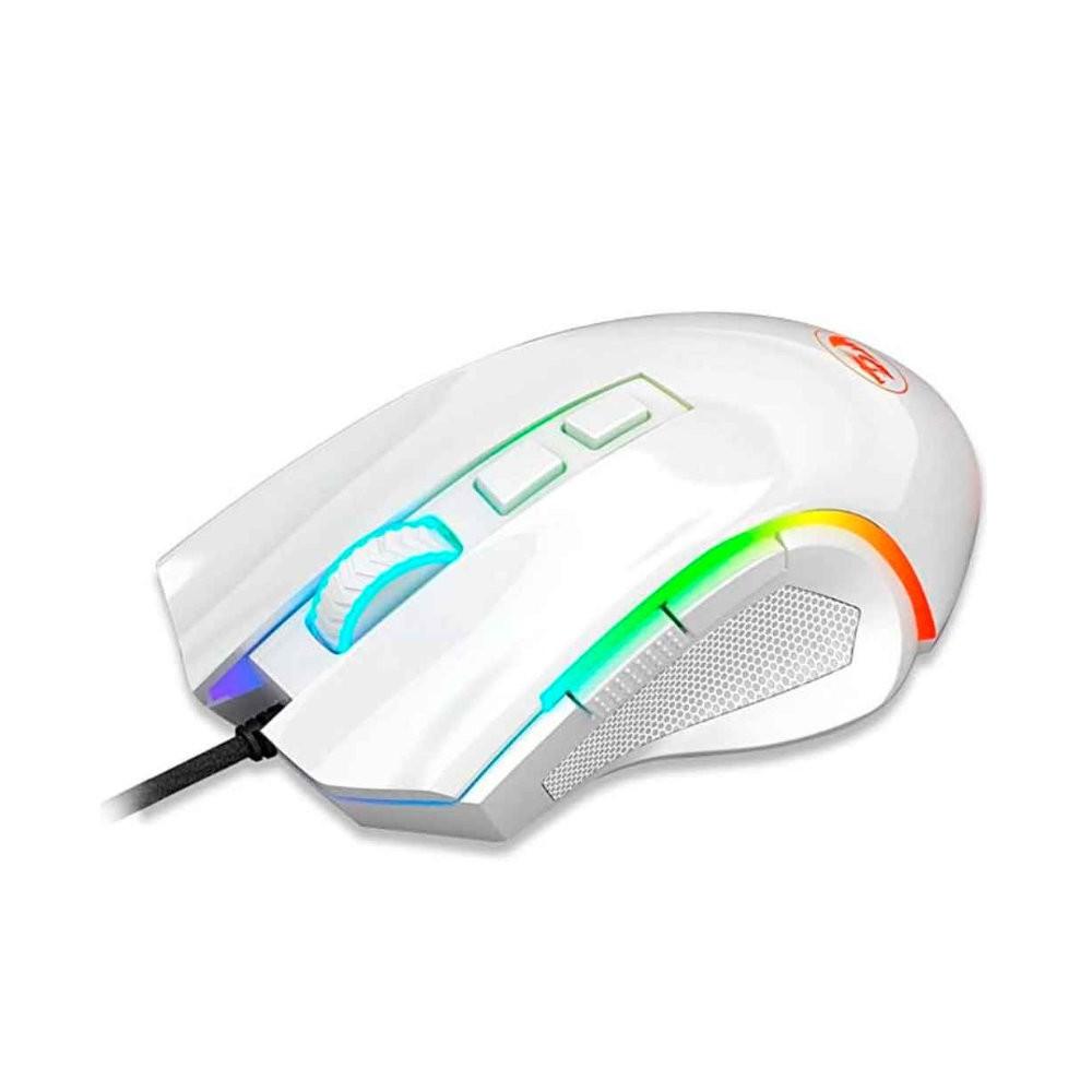 Mouse Redragon Griffin Branco 7200DPI RGB Com Fio