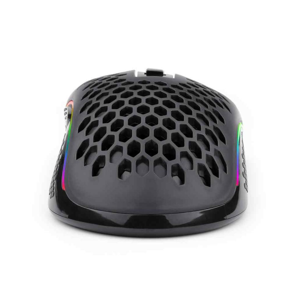 Mouse Redragon Storm Preto RGB 12400DPI Com Fio