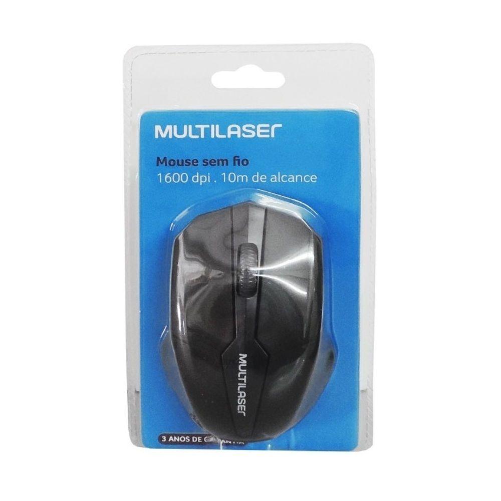 Mouse Multilaser 1.600 DPI Sem Fio