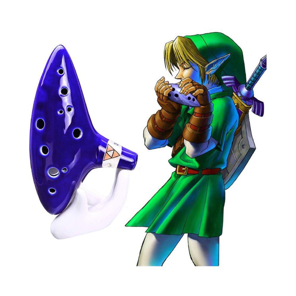 Ocarina em Cerâmica 12 Furos - The Legend of Zelda