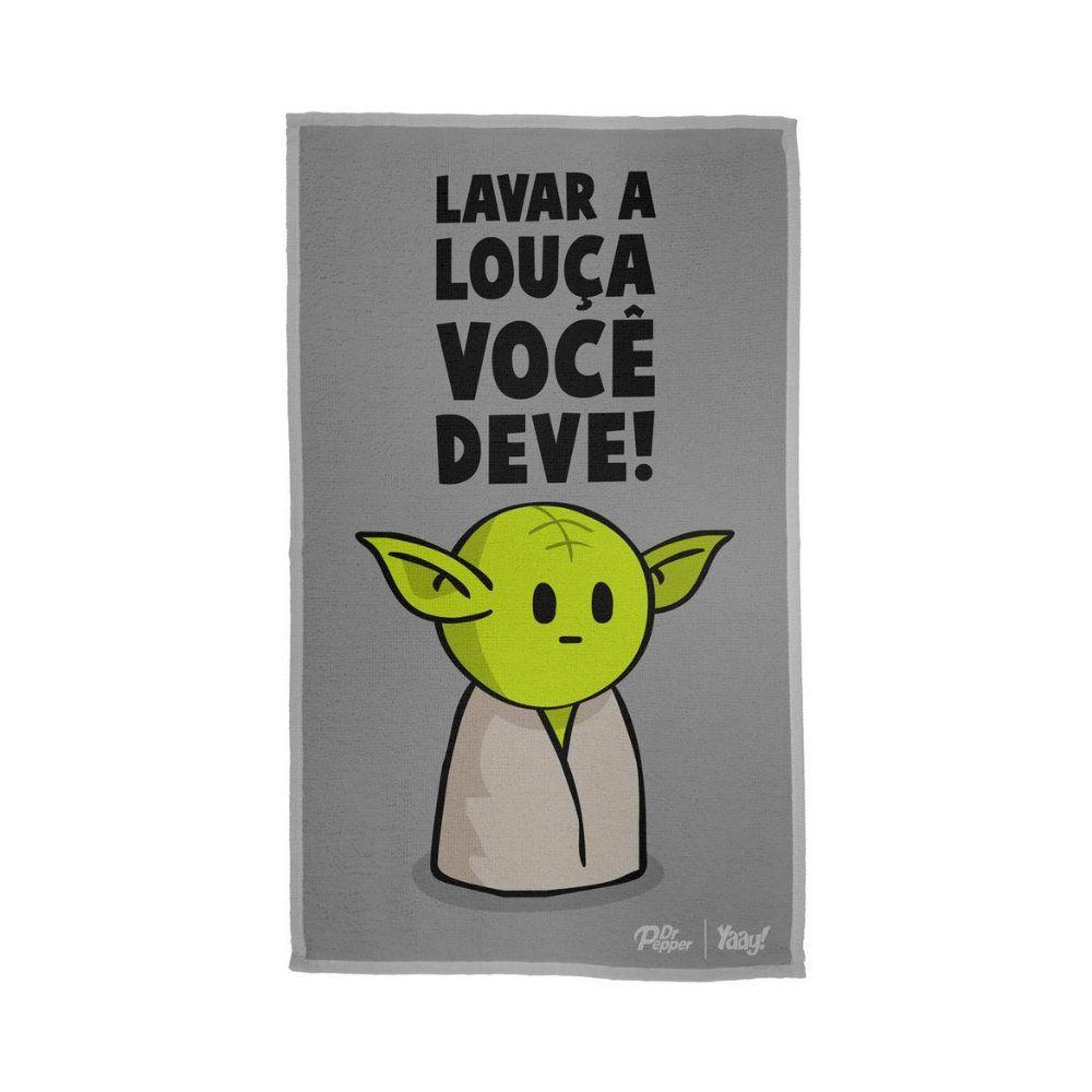 Pano de Prato Mestre Yoda - Star Wars - 50X30