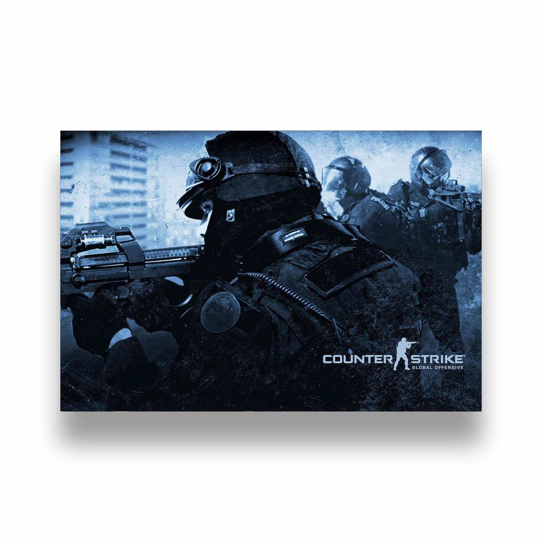 Placa Decorativa Counter Strike - PVC - 30x20cm