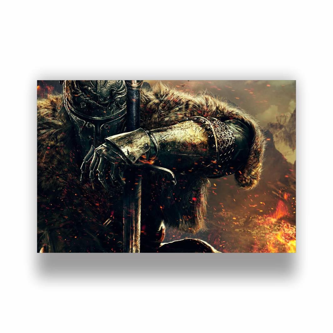 Placa Decorativa PVC Dark Souls - 30x20