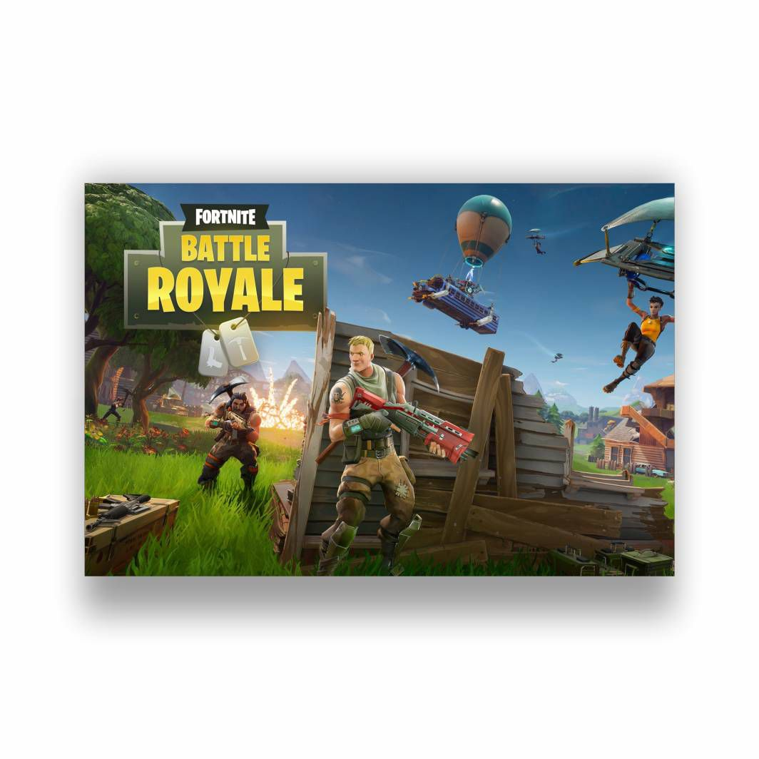 Placa Decorativa PVC Fortnite - 30x20