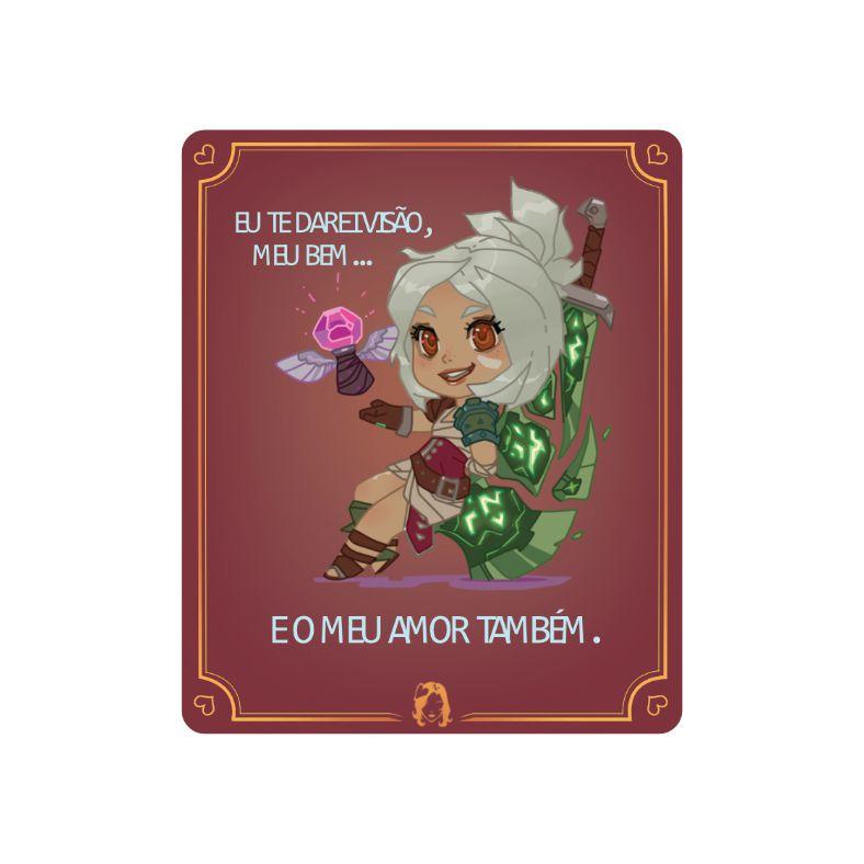 Placa Decorativa PVC Riven - League of Legends LOL - 27x24