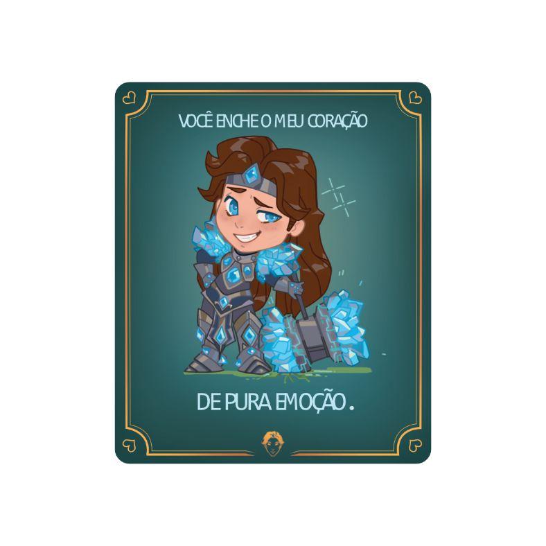 Placa Decorativa PVC Taric - League of Legends LOL - 27x24