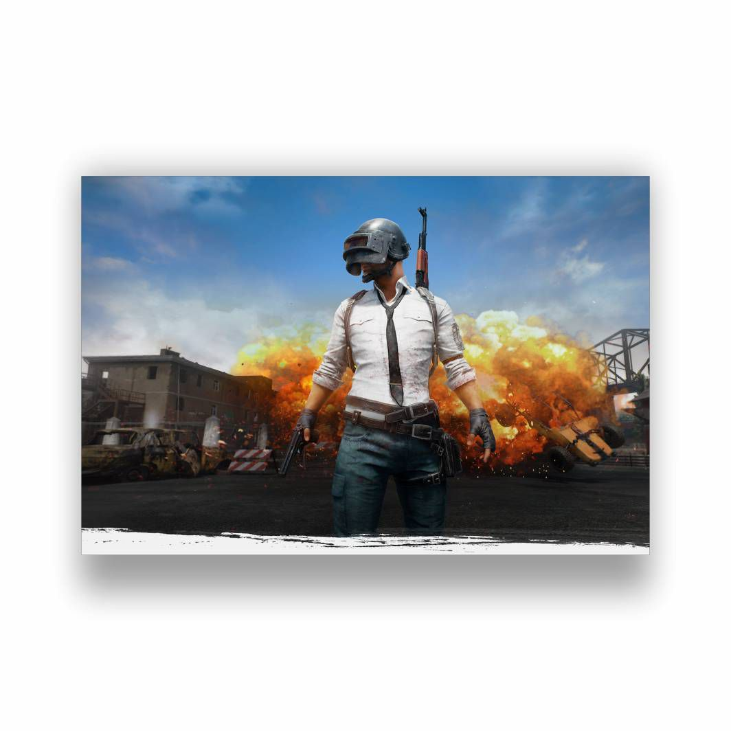 Placa Decorativa PUBG 1 - PVC - 30x20cm