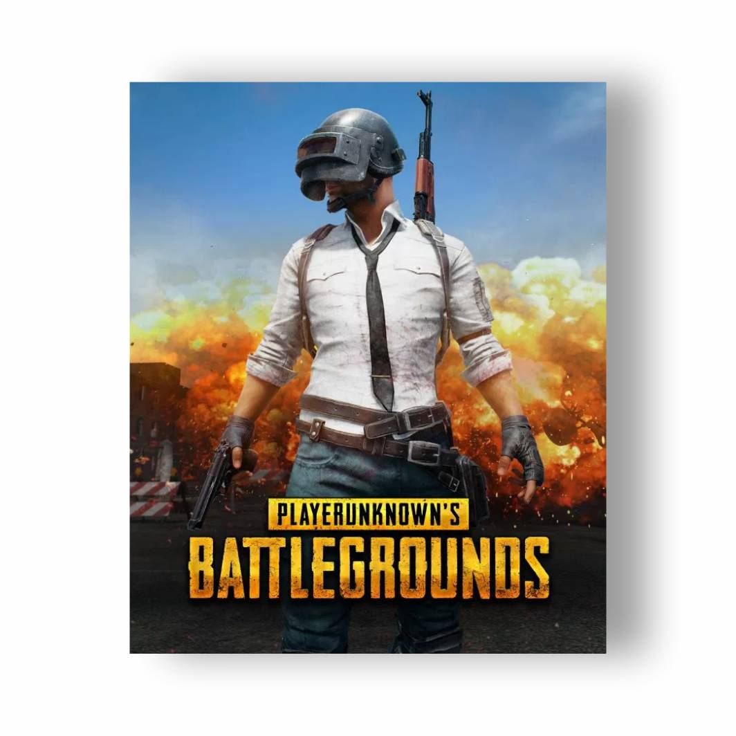 Placa Decorativa PVC PUBG - 32x27
