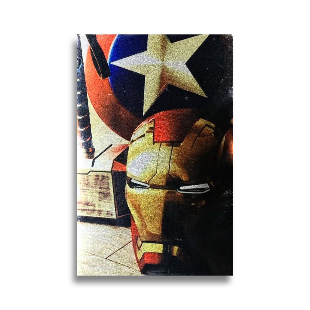 Placa Metalizada Vingadores Armas - Marvel Vingadores - 10x15