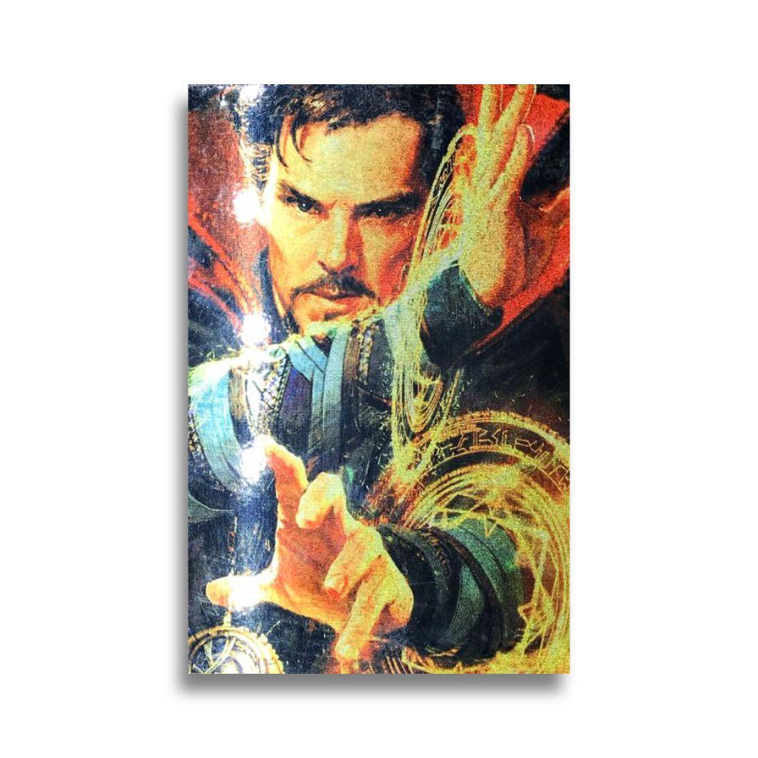 Placa Metalizada Doutor Estranho - Marvel Vingadores - 10x15
