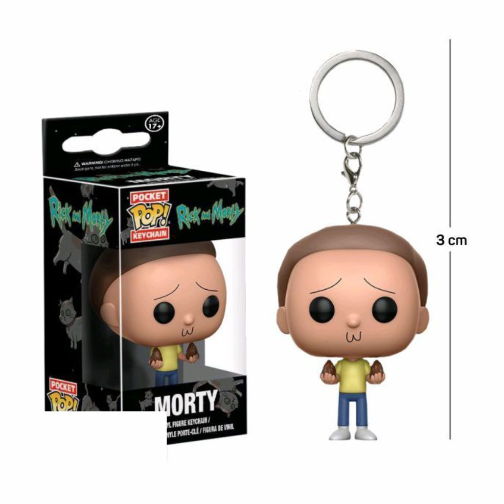 Pocket Funko POP Morty Keychain