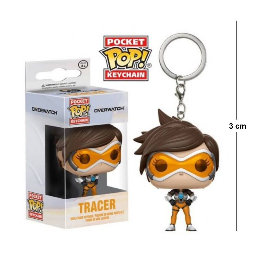 Pocket Funko POP Overwatch Tracer Keychain