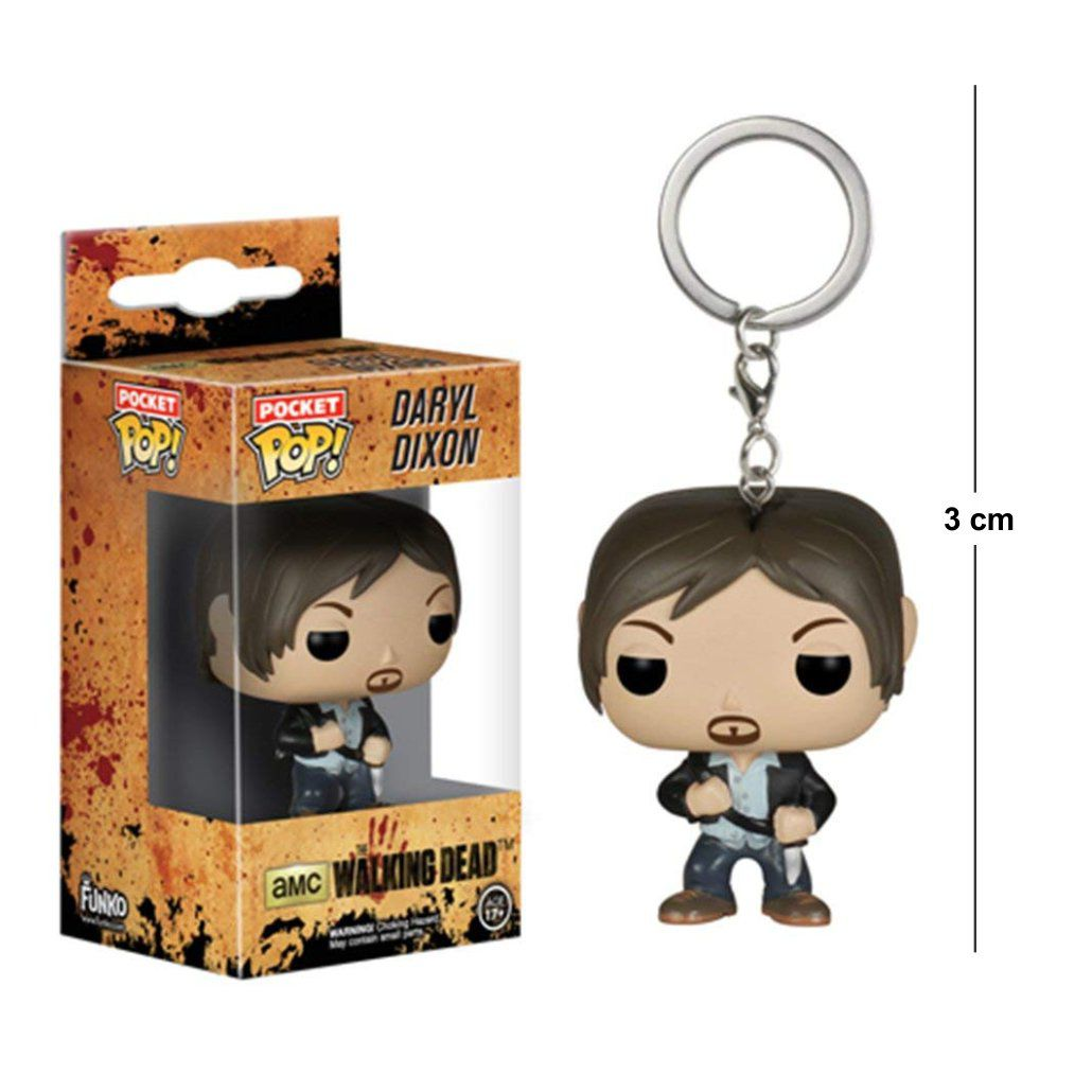 Pocket Funko POP The Walking Dead Daryl Dixon Keychain