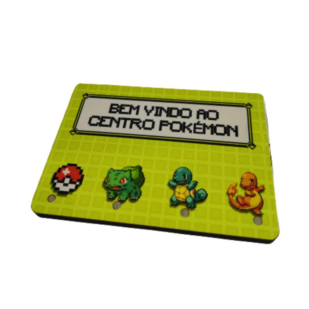 Porta Chave Centro Pokemon - Pokémon - 20X15