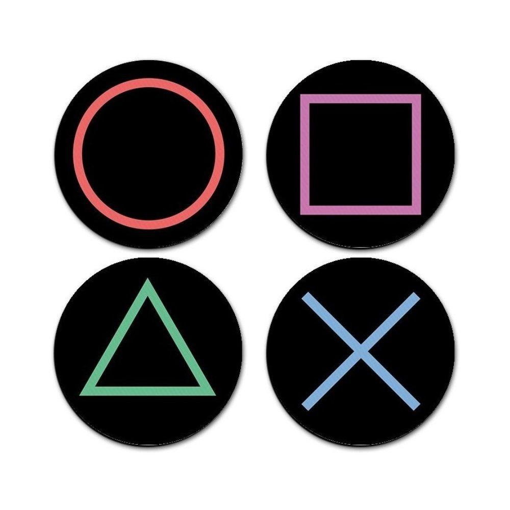 Porta Copos Botões PlayStation - Sony - 5X5