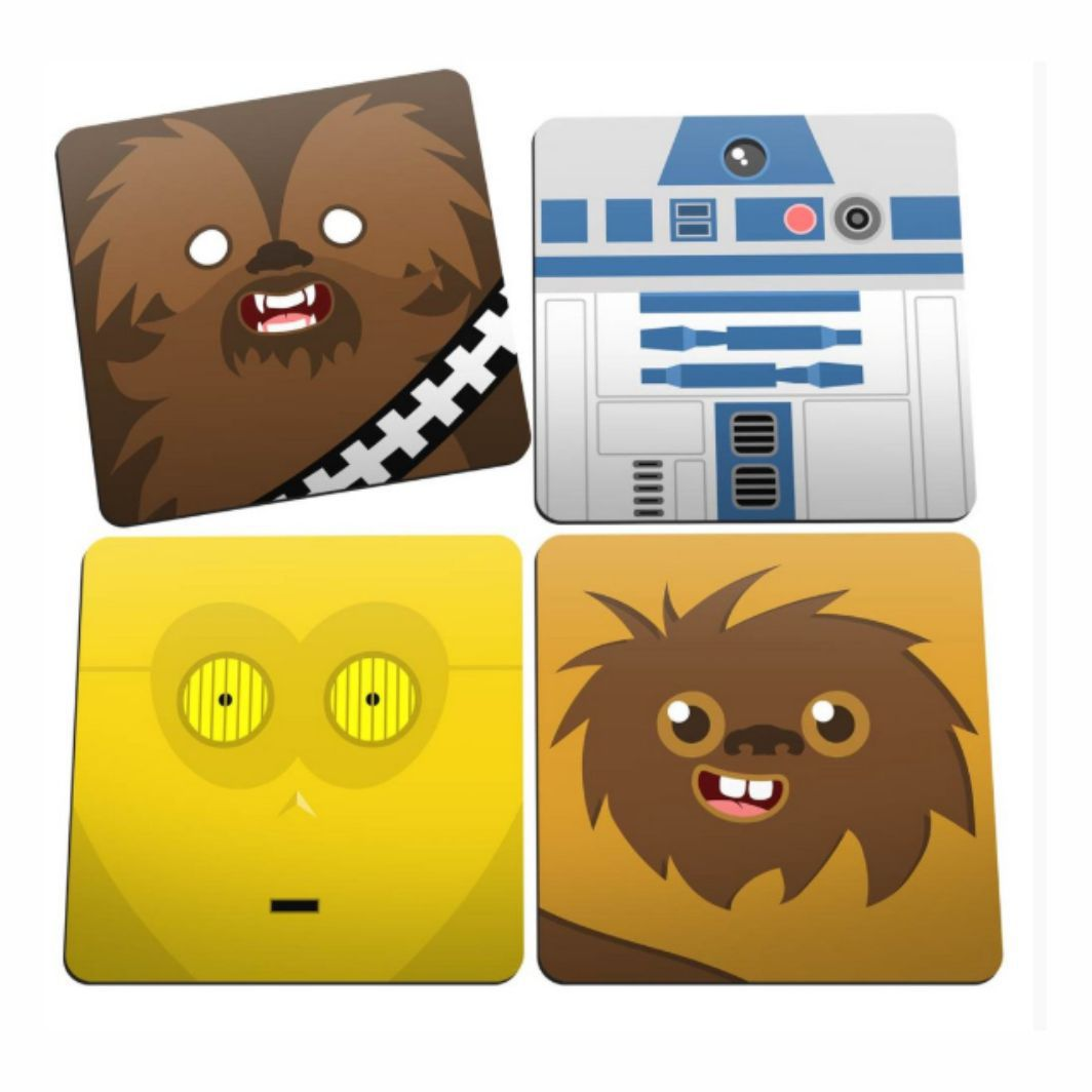 Porta Copos Mascotes - Star Wars - 5X5