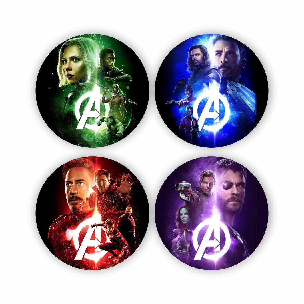 Porta Copos Vingadores - Marvel - mod. 2 - 5X5