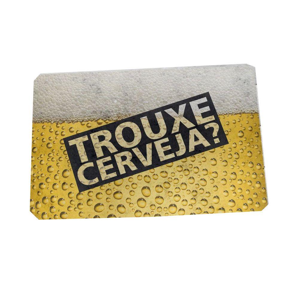 Tapete Capacho Trouxe A Cerveja? - 60X40