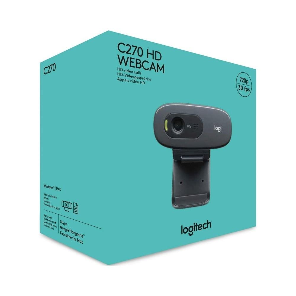 Webcam Logitech C270 720P Com Microfone Embutido