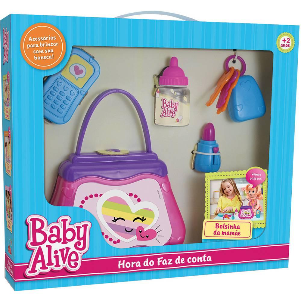 ELKA - Hora do Faz de Conta Baby Alive Bolsinha da Mamãe -