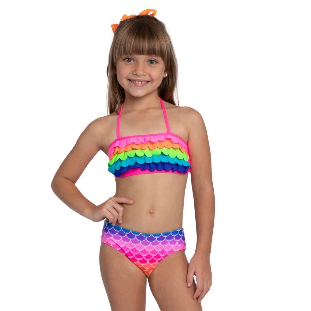 Biquíni Arco Íris Rafa Siri Kids Moda Praia Infantil