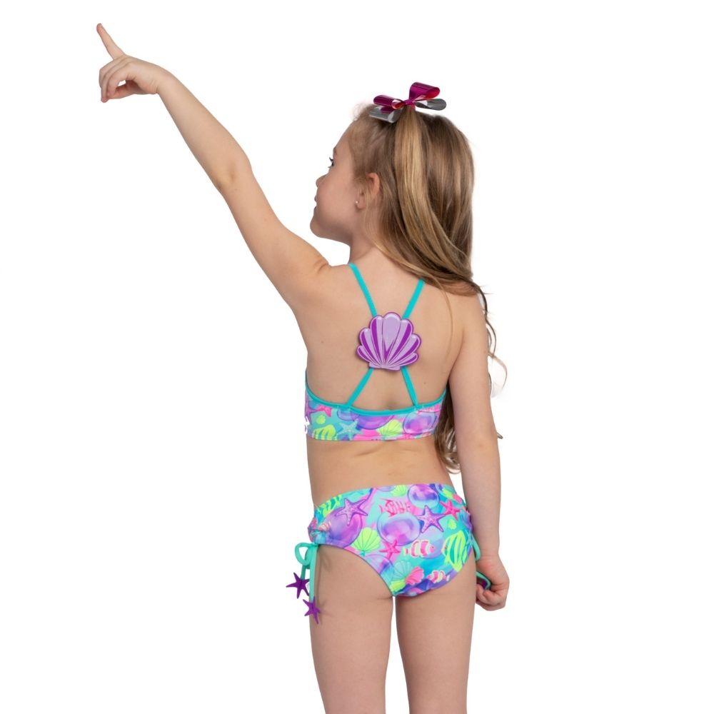 Biquíni Cropped Fundo do Mar Siri Kids Moda Praia Infantil
