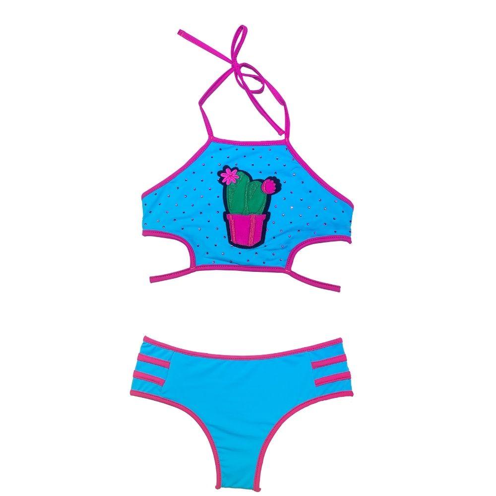 Biquíni Cropped Júlia Cactus Siri Kids Moda Praia