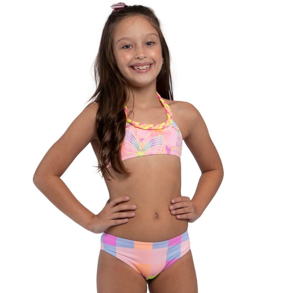 Biquíni Top Florata Elisa Siri Kids Moda Praia